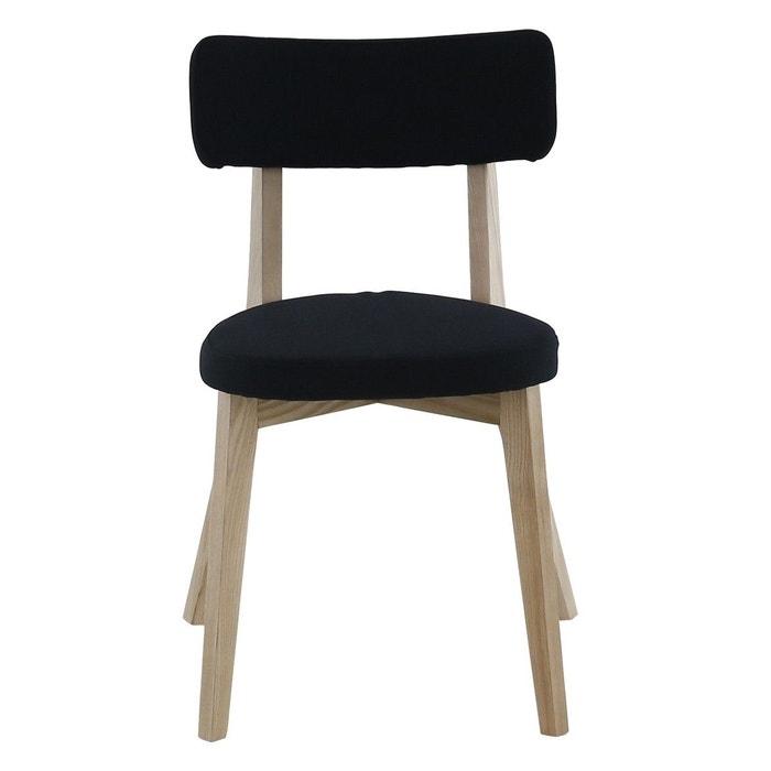 chaise tissu et bois de fr ne alison zago la redoute. Black Bedroom Furniture Sets. Home Design Ideas