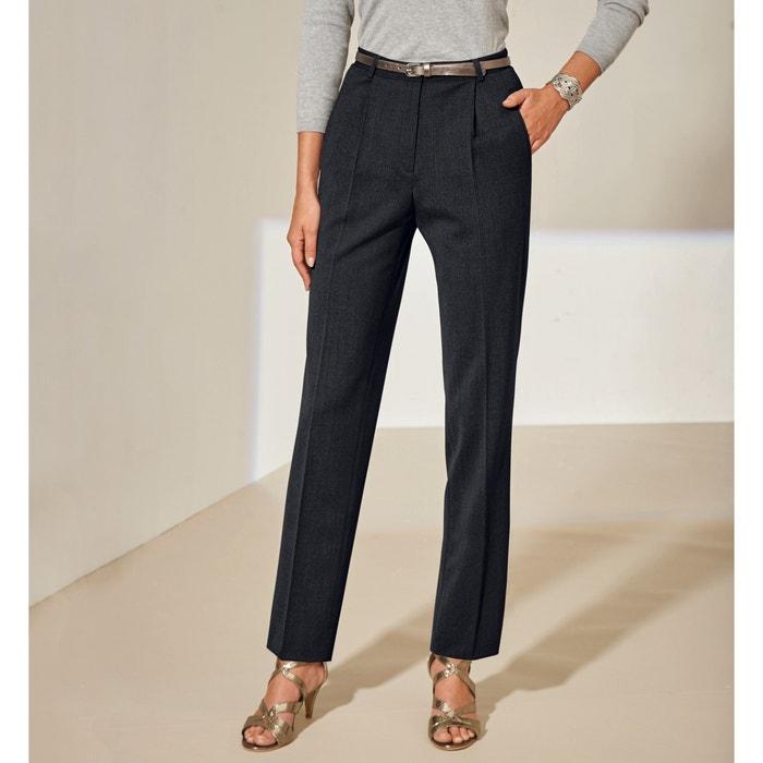 Image Pantalon à pinces bi-extensible, entrej. 78 cm ANNE WEYBURN