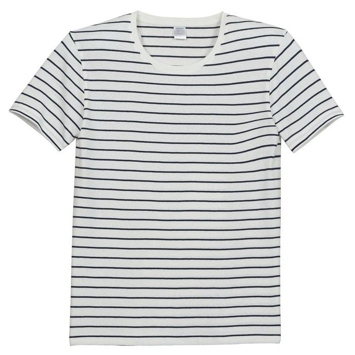 Image T-shirt collo rotondo a righe maniche corte R édition