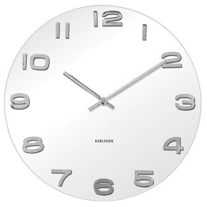 horloge murale karlsson vintage round 35 cm blanc karlsson la redoute. Black Bedroom Furniture Sets. Home Design Ideas