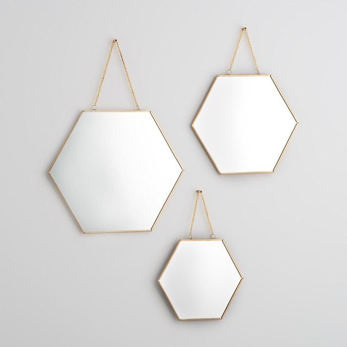 Espejos hexagonales dorados, NÉO (lote de 3)  La Redoute Interieurs image 0