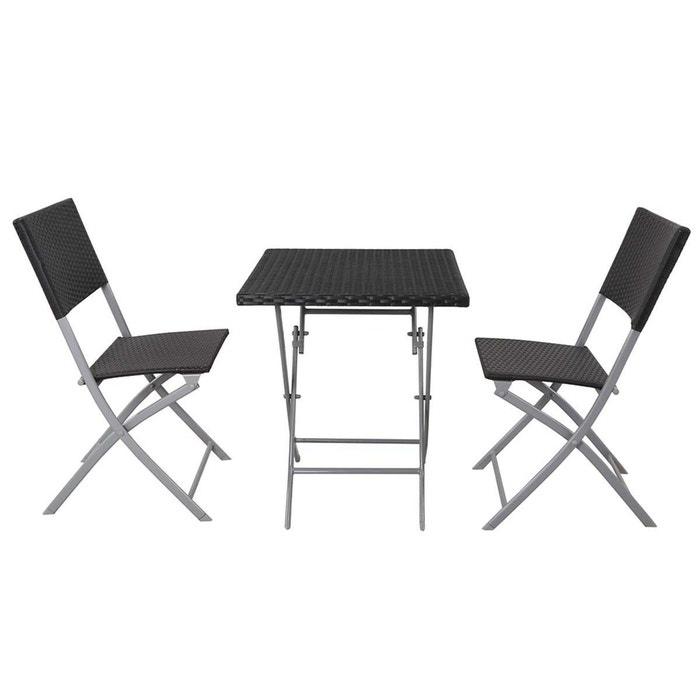 Salon de jardin en r sine tress e melbourne atlanta - La redoute table de jardin en resine tressee ...