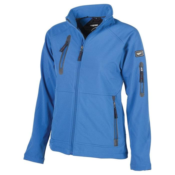 6fc7ff34ebbb9 Veste legere impermeable doublée polaire bleu Fashion Cuir   La Redoute