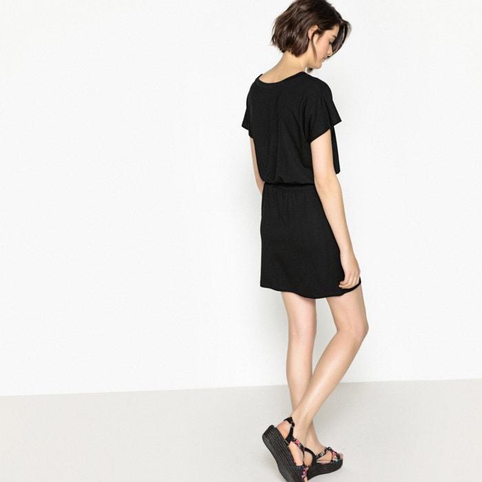 la cintura liso La ajustado Vestido en Redoute Collections YYqHwAT