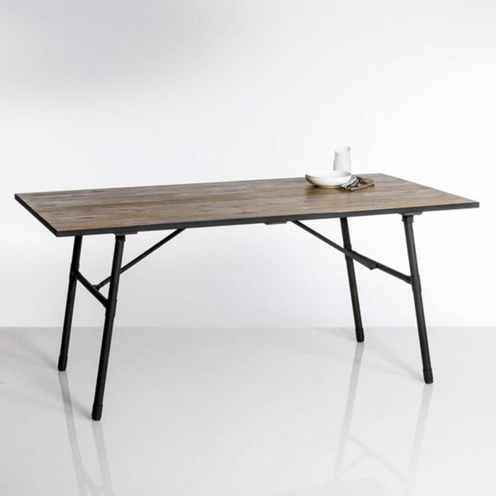 Imagen de Mesa de jardín plegable de madera y metal Sohan La Redoute Interieurs