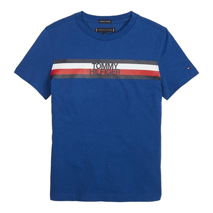 757b87b93 T-shirt em algodão bio, 12-16 anos azul Tommy Hilfiger | La Redoute