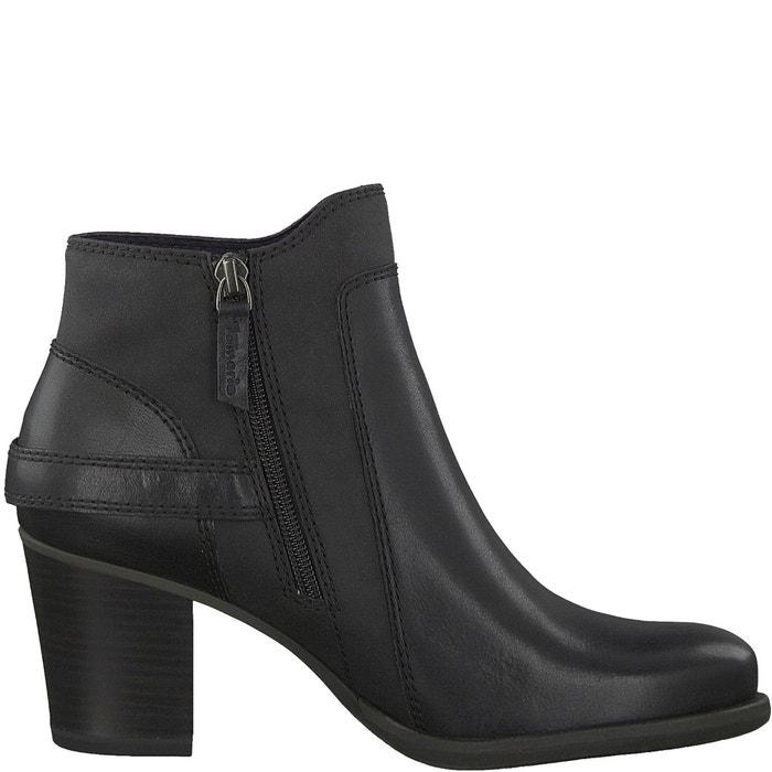 boots tora noir tamaris la redoute. Black Bedroom Furniture Sets. Home Design Ideas
