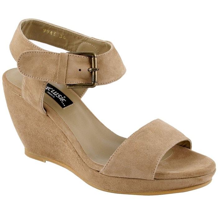 Chaussures compensées patty taupe Exclusif Paris