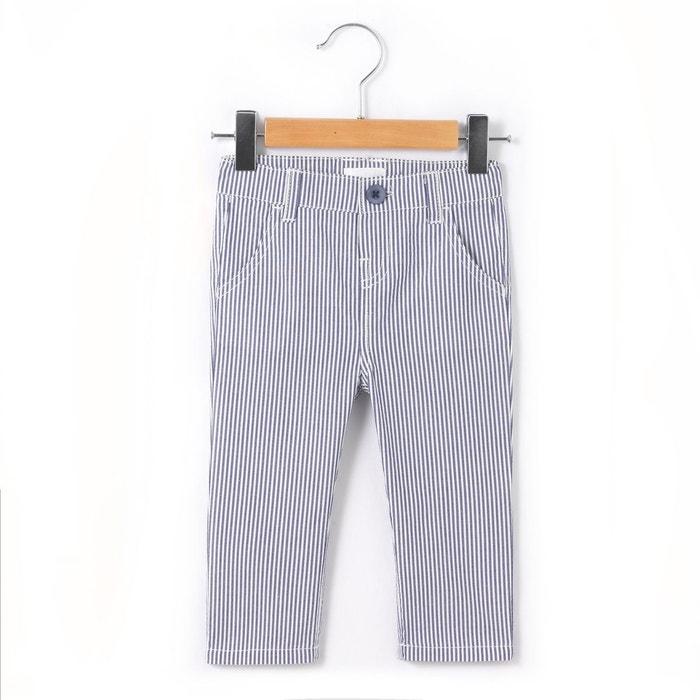 Pantalon chino rayé 1 mois - 3 ans La Redoute Collections