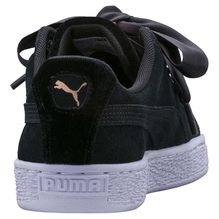 Chaussures suede heart vr wns noir violet noir Puma