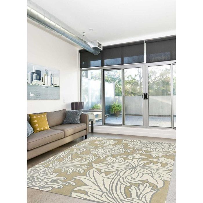 tapis chrysanthemum bleu tapis moderne 170 x 240 cm beige. Black Bedroom Furniture Sets. Home Design Ideas