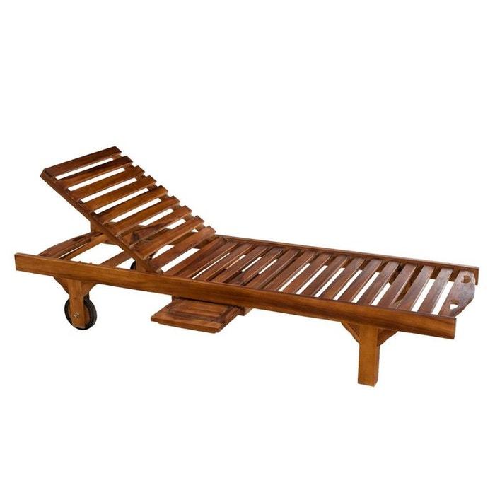 bain de soleil transat jardin en teck huil 205cm macao bois teck huil pier import la redoute. Black Bedroom Furniture Sets. Home Design Ideas