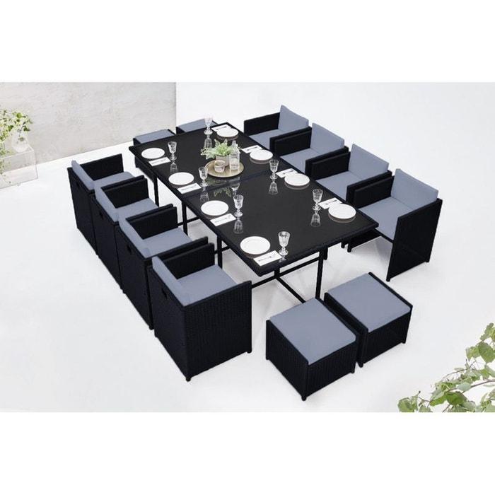 Salon de jardin family 12 noir/gris Bobochic | La Redoute