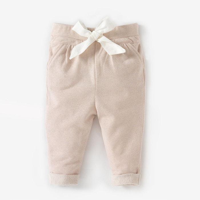 Pantalon molleton à nœud 1 mois - 3 ans rose clair La Redoute Collections  9094aee6d19