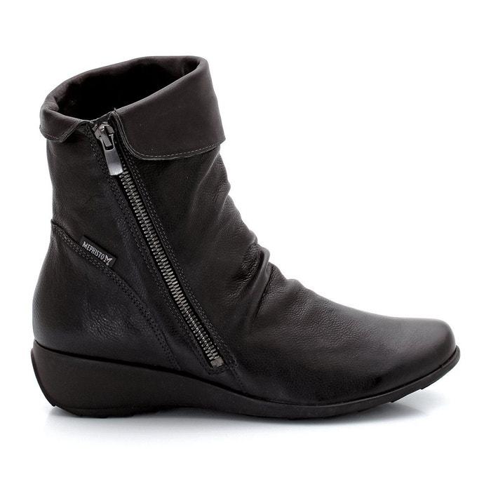 Achats En Ligne En Vente Boots cuir seddy noir Mephisto confortable YOhs0ju