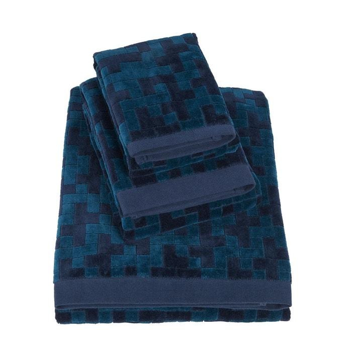 hugo boss serviette de bain stencil indigo bleu hugo boss home la redoute. Black Bedroom Furniture Sets. Home Design Ideas