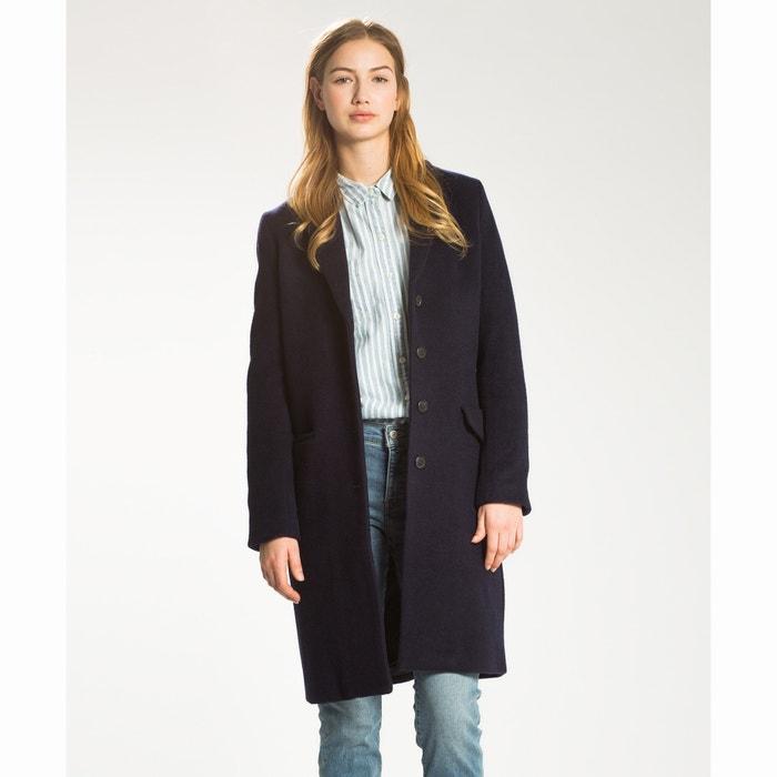afbeelding Lange jas in wol en katoen LEVI'S