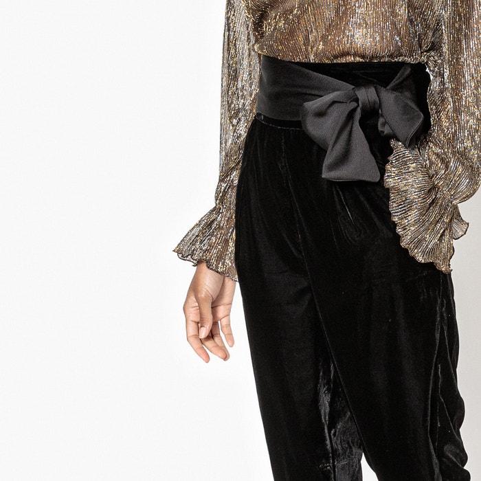 Image Pantaloni in velluto a vita alta MADEMOISELLE R