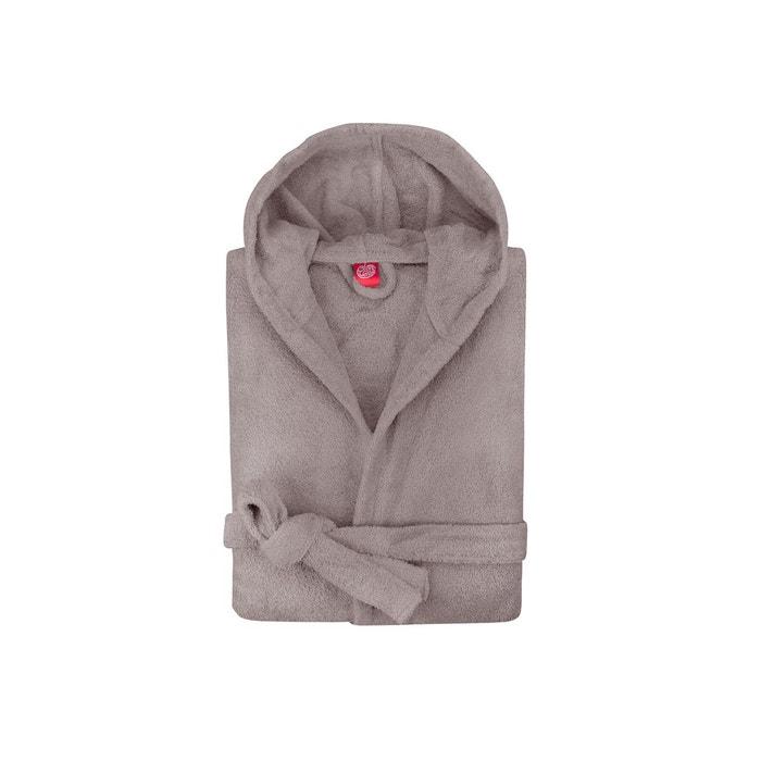 peignoir capuche enfant coton peign 450 g m gris taupe. Black Bedroom Furniture Sets. Home Design Ideas