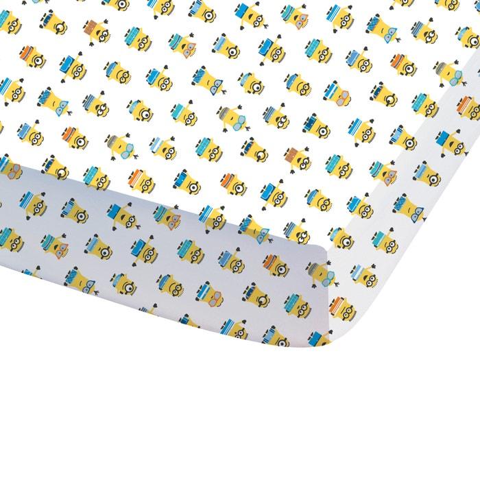 Image Drap-housse imprimé, pur coton, Les Minions Paradise LES MINIONS