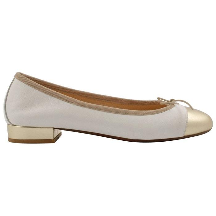 Exclusif Paris Ballerines Ludovica Blanc - Chaussures Ballerines Femme