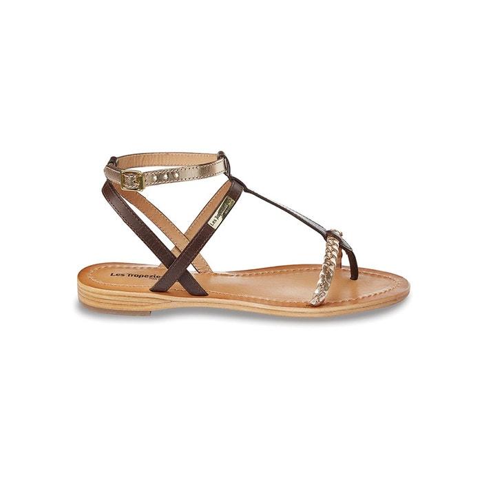 sandales cuir hilatres marron or les tropeziennes par m belarbi la redoute. Black Bedroom Furniture Sets. Home Design Ideas