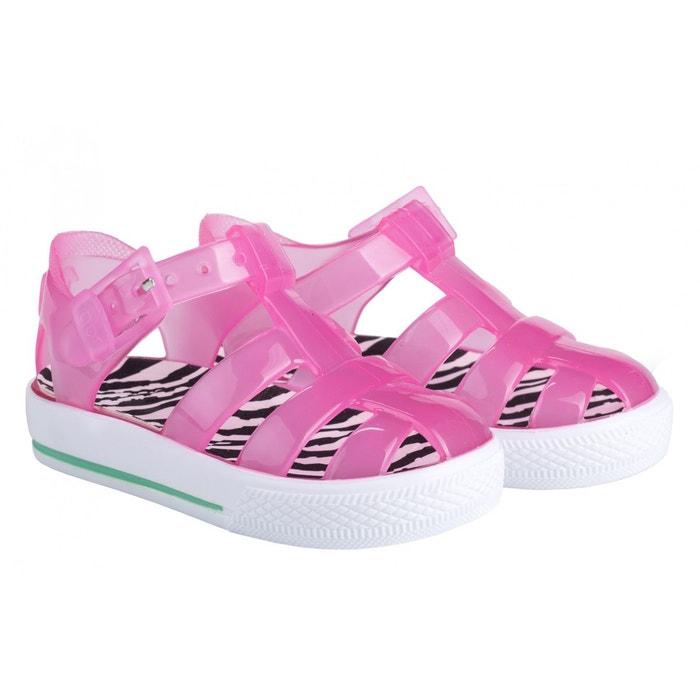 Sandales en plastique rose zébrée - Rose WMMTBRZ