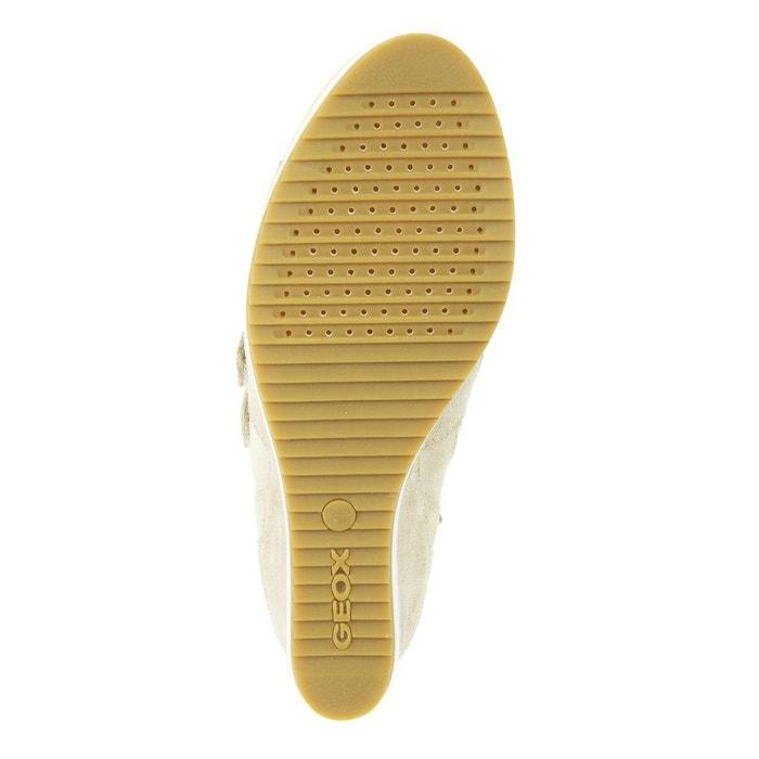 Baskets cuir compensées d illusion d nude Geox