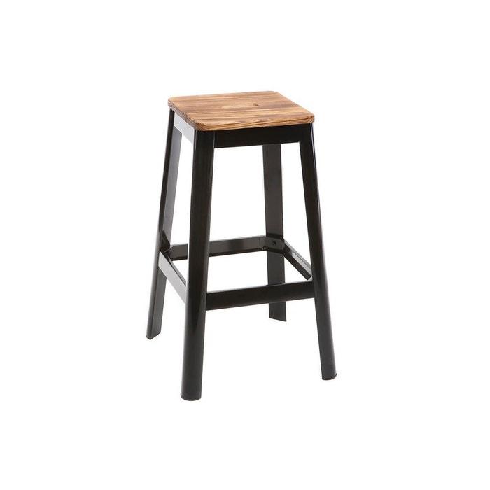 tabouret de bar design h75cm nick noir miliboo la redoute. Black Bedroom Furniture Sets. Home Design Ideas