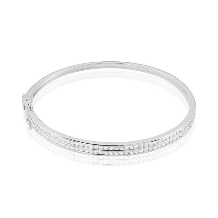 Bracelet argent jonc oxyde blanc Histoire D'or | La Redoute Abordable Vente En Ligne Wdv8KD