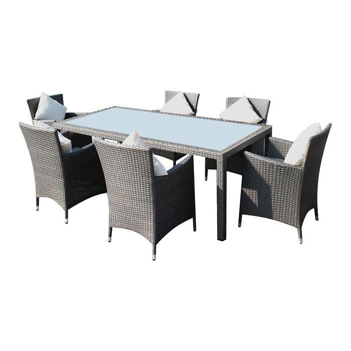 Salon de jardin r sine tress e 6 fauteuils caracas couleur unique cemonjardin - La redoute chaise de jardin ...