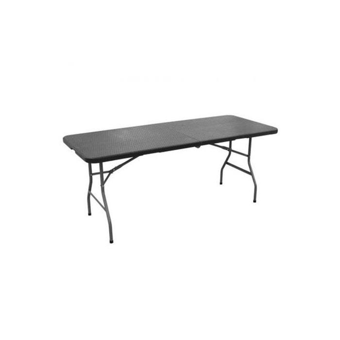 table manger pliable portable noire lakaa declikdeco la redoute. Black Bedroom Furniture Sets. Home Design Ideas