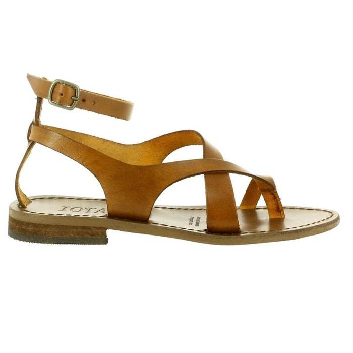 05d655d1ce775 Sandales   nu-pieds cuir marron Iota