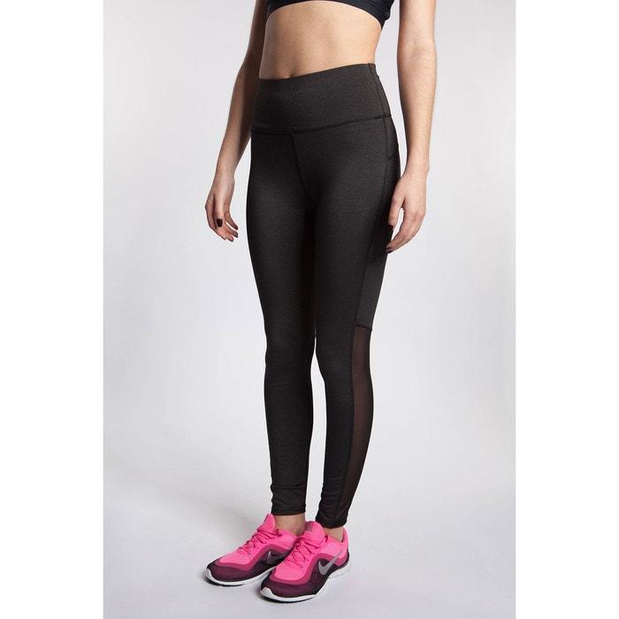 Legging de sport empiècement résille gris Bodyskult  13a7485f5ae