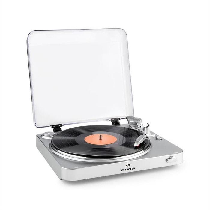 auna tt 30 bt platine vinyle tourne disque bluetooth line out rca usb argent couleur unique. Black Bedroom Furniture Sets. Home Design Ideas