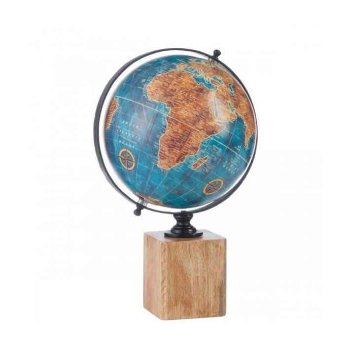 globe terrestre style ancien bleu base bois bleu wadiga la redoute. Black Bedroom Furniture Sets. Home Design Ideas