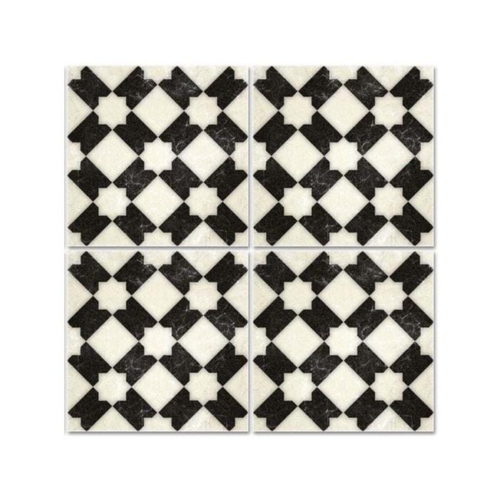 Carrelage Noir Blanc stickers pour carrelage de salle de bain ou cuisine carreaux noir et