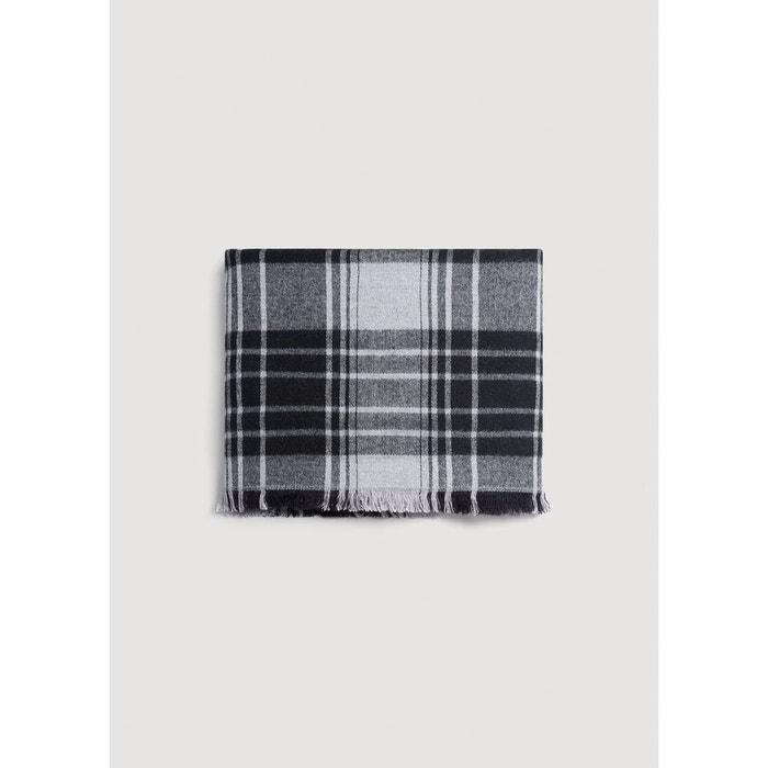 Écharpe bicolore à carreaux gris Mango   La Redoute d564921be0c
