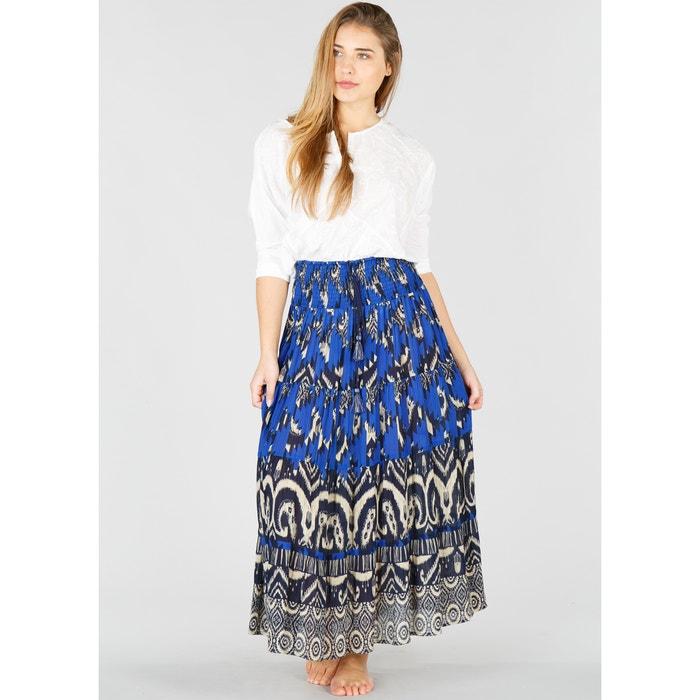 Folk Style Maxi Skirt with Tassels  RENE DERHY image 0