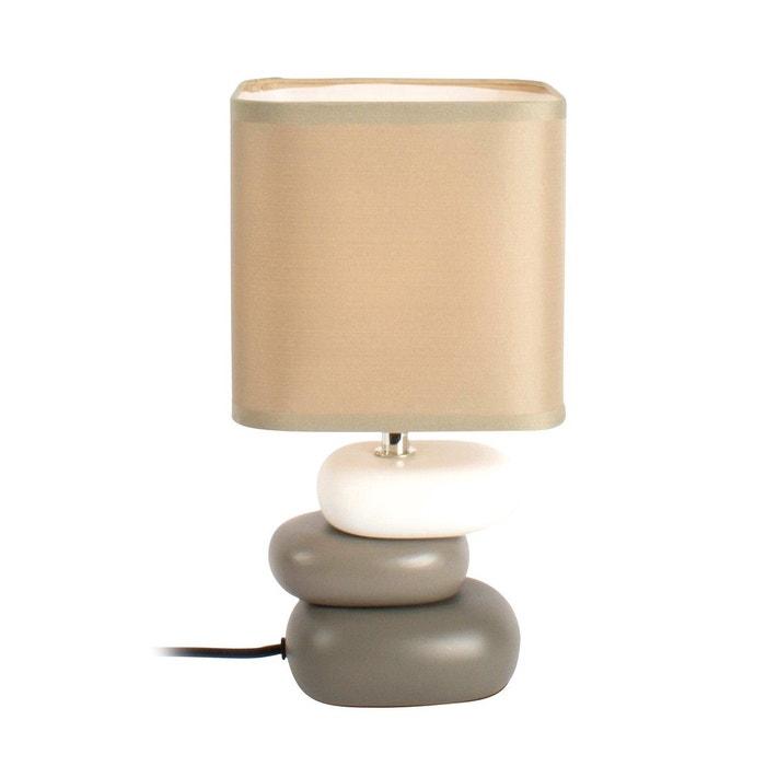 Lampe Galet Hysope Taupe En Ceramique Et Coton Taupe Keria La Redoute