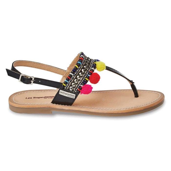 sandales cuir noir les tropeziennes par m belarbi la redoute. Black Bedroom Furniture Sets. Home Design Ideas