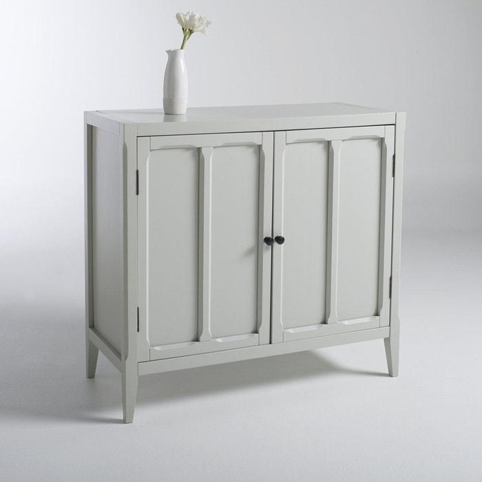 armoire basse 2 portes eug nie gris clair la redoute interieurs la redoute. Black Bedroom Furniture Sets. Home Design Ideas