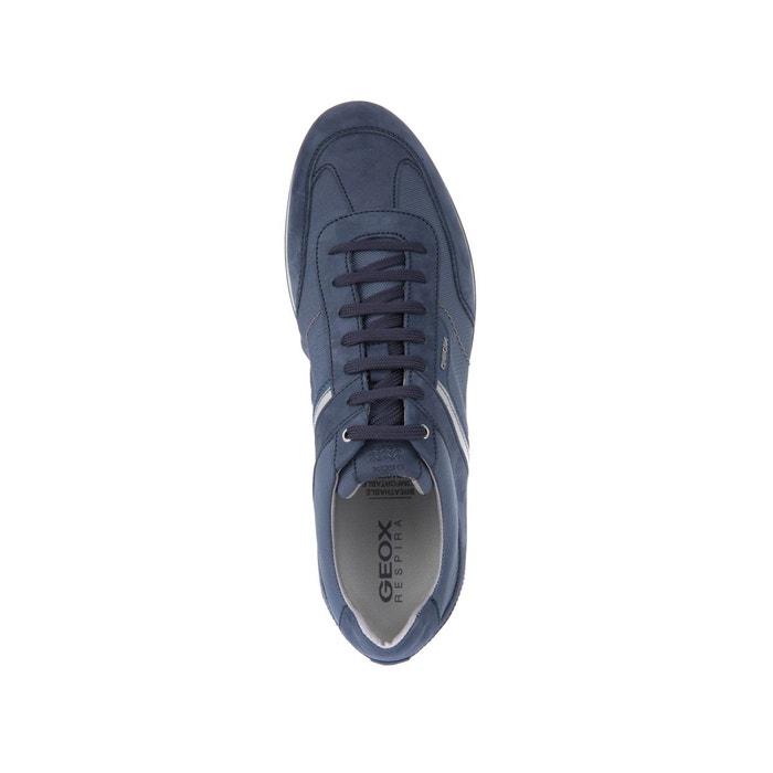 Geox U Clemet A Hommes Baskets en cuir Chaussures Bleu 8