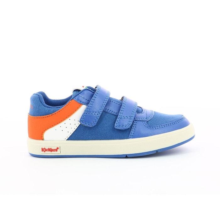 dcf50230cb90d4 Baskets basses en toile gready low cdt 2 bleu orange Kickers | La Redoute