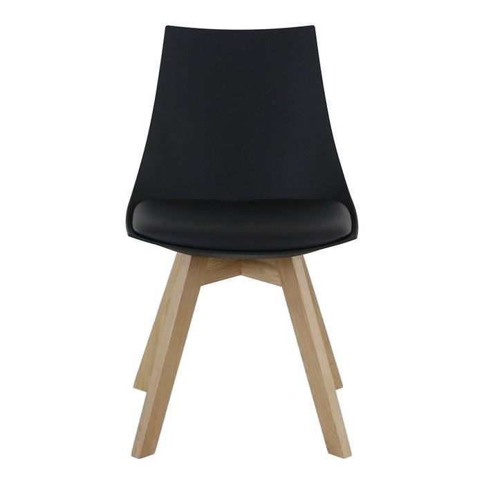 2x chaise pi tement ch ne kim zago la redoute. Black Bedroom Furniture Sets. Home Design Ideas
