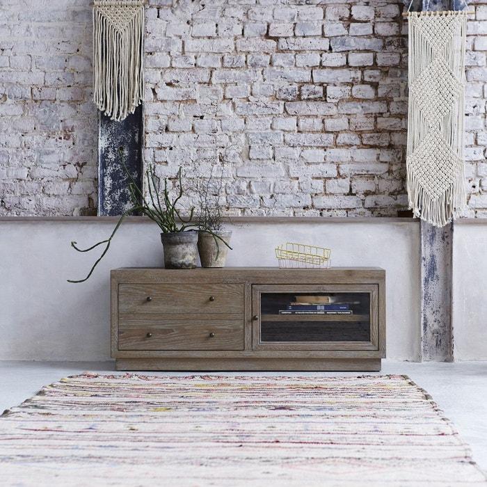 Meuble tv en bois de chêne 110 pablo couleur unique Tikamoon | La ...