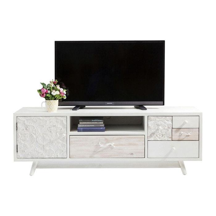 Meuble tv sweet home kare design blanc kare design la for Meuble tv grande taille