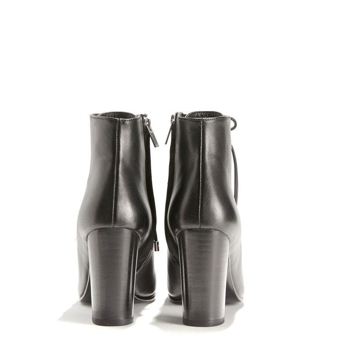 Boots croûte de cuir vachette noir The Kooples