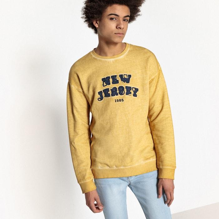 Printed Oversized Sweatshirt, 10-16 Years  La Redoute Collections image 0