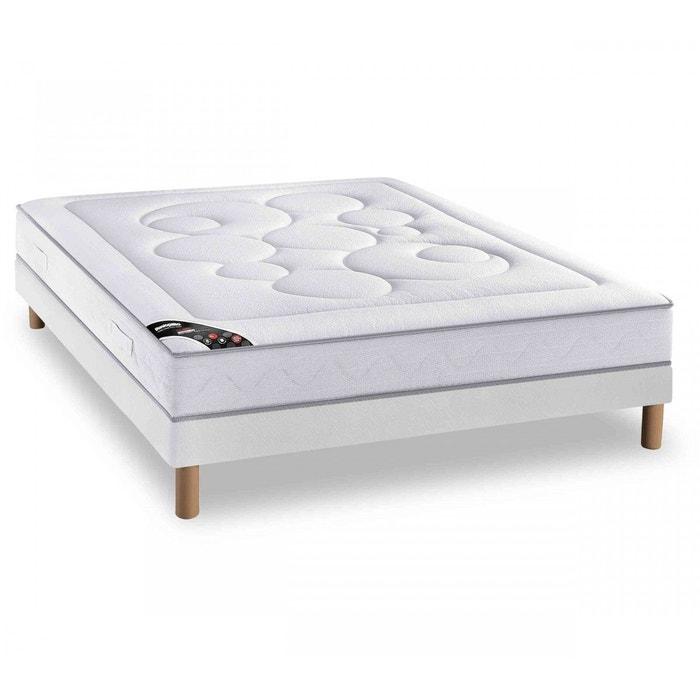 ensemble dunlopillo climo 100 latex sommier pieds blanc dunlopillo la redoute. Black Bedroom Furniture Sets. Home Design Ideas